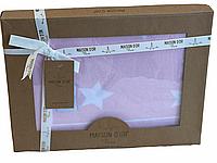 Детский плед Maison Dor Baby Tricot Blanket Pink&White трикотаж 70-90 см розовый