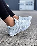 Жіночі кросівки на масивній підошві білі Jintu Sports, фото 3