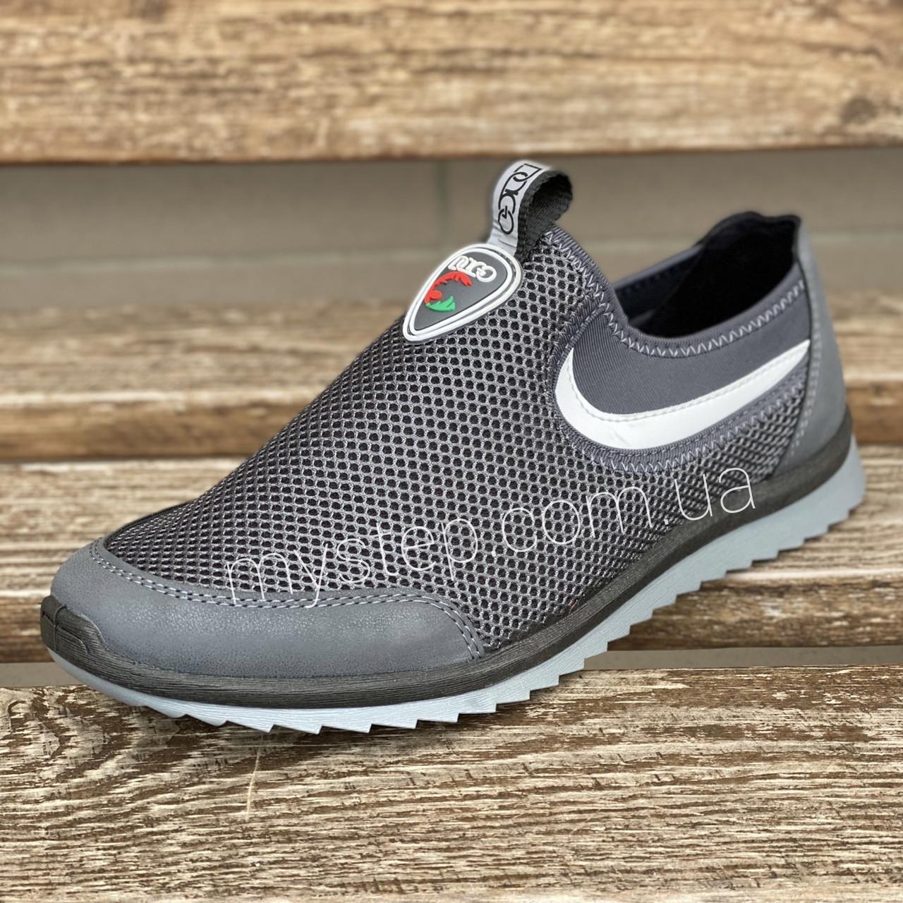 Кросівки сітка сірі Dago Style M29-02