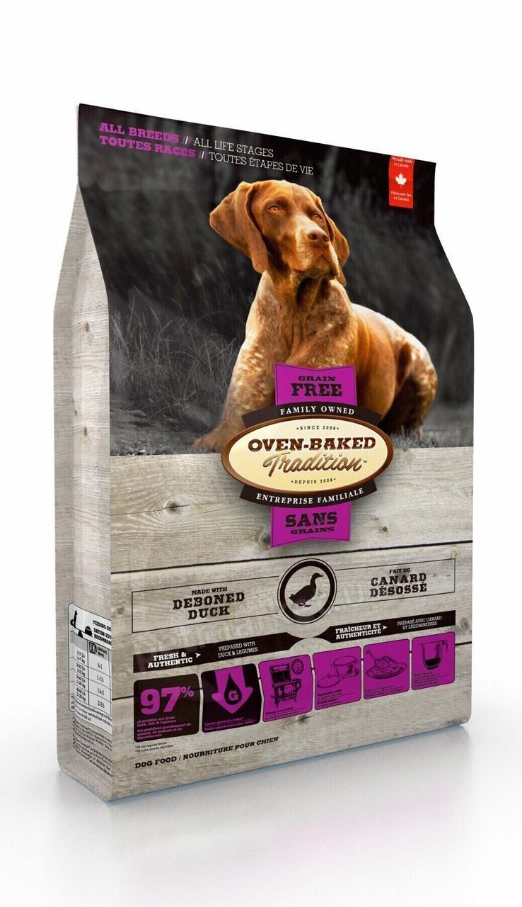Беззерновий сухий корм для собак всіх порід з качкою Oven-Baked Tradition Grain Free Duck