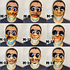 Принт на маске лицо с маской, фото 4