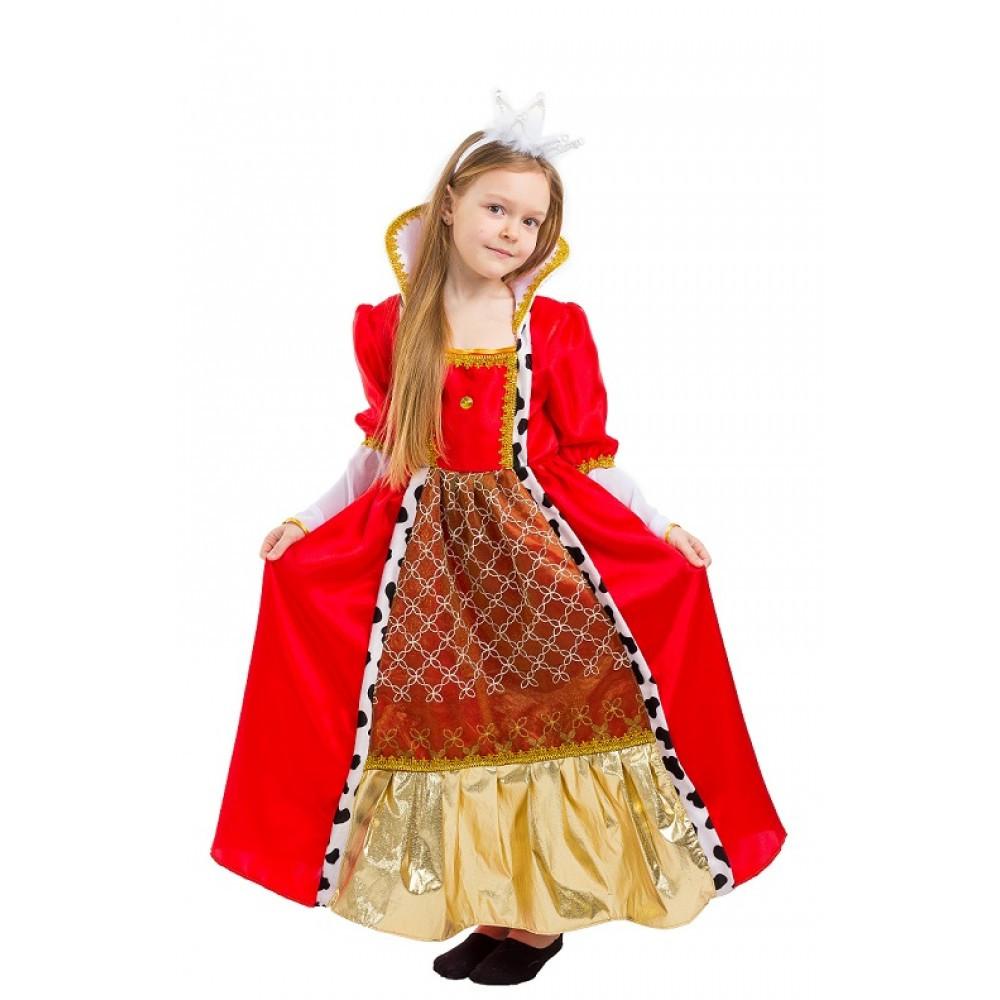 Карнавальный костюм КОРОЛЕВА для девочки 5,6,7,8, лет детский маскарадный костюм КОРОЛЕВЫ
