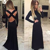 Женское Шикарное Длинное Платье с французского трикотажа, фото 1