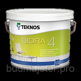 Фарба TEKNOS BIORA Біора 4 для фарбування стін та стель 9 л