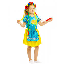 Карнавальный костюм УКРАИНКА №3 для девочки 4,5,6,7,8,9 лет, украинский национальный костюм УКРАИНОЧКА