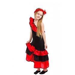 Карнавальный костюм ИСПАНКА, ТАНЦОВЩИЦА для девочки 6,7,8,9 лет, детский маскарадный костюм ИСПАНКИ КАРМЕН