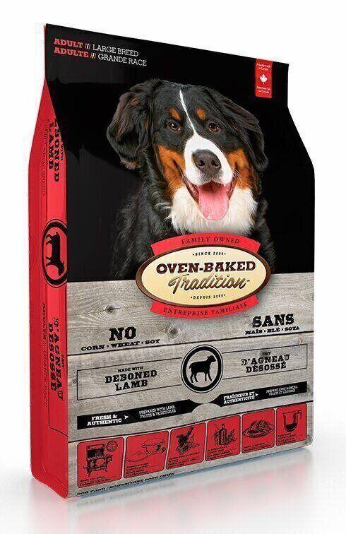 Сухий корм для дорослих собак великих порід з ягням Oven-Baked Tradition Adult Large Breed Lamb