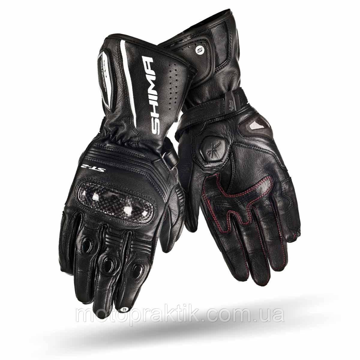 SHIMA ST-2 LADY Gloves Black, XS Моторукавички жіночі шкіряні спортивні