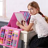 Детский набор для рисования. Чемодан творчества. 208 предметов. Для девочек., фото 6