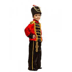 Детский карнавальный костюм ГУСАР для мальчика 4,5,6,7,8,9 лет, детский маскарадный костюм ГУСАРА