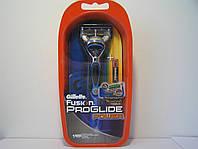Станок для бритья мужской Gillette Fusion Power Proglide (Жиллет Оранж станок + 1 картридж)