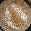 Федора капелюх солом'яний жіноча літнє від сонця капелюшок панамка пляжна жіночий капелюх, фото 6