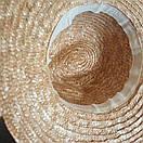 Федора шляпа соломенная женская летняя от солнца шляпка панамка пляжная жіночий капелюх, фото 5