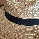 Федора шляпа соломенная женская летняя от солнца шляпка панамка пляжная жіночий капелюх, фото 4