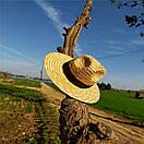 Федора шляпа соломенная женская летняя от солнца шляпка панамка пляжная жіночий капелюх, фото 2