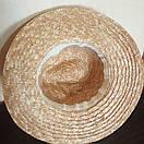 Федора шляпа соломенная женская летняя от солнца шляпка панамка пляжная жіночий капелюх, фото 7
