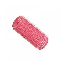 Бігуді-липучки d24 мм (12шт) рожеві