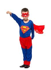 Детский карнавальный костюм СУПЕРМЕН для мальчика 5,6,7,8 лет, новогодний костюм СУПЕРМЕНА