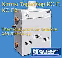 Котел Термобар КС-ГВ-10-ДS двухконтурный дымоходный  газовый напольный стальной (Барский завод), фото 1