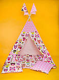 Вигвам Индийские совушки. Вигвам детский, детский вигвам, детский домик, детская палатка, вигвам палатка, фото 2