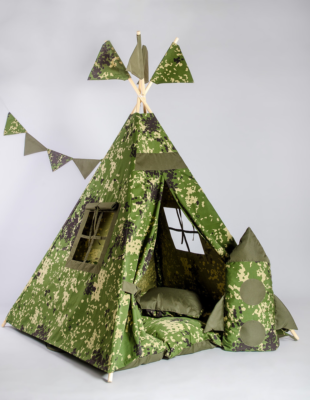 Вигвам Военный. Вигвам детский, детский вигвам, детский домик, детская палатка, вигвам палатка