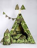 Вигвам Военный. Вигвам детский, детский вигвам, детский домик, детская палатка, вигвам палатка, фото 2