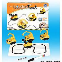 Машинка Iductive Truck игрушечная развивающая машинка детский индуктивный автомобиль индукционная машинка