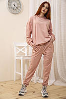 Спорт костюм женский 104R0033 цвет Пудровый