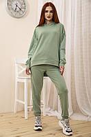 Спорт костюм женский 104R0033 цвет Оливковый