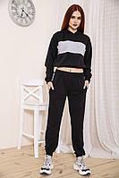 Спорт костюм женский 103R213 цвет Черно-серый