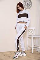 Спорт костюм женский 103R213 цвет Бело-коричневый