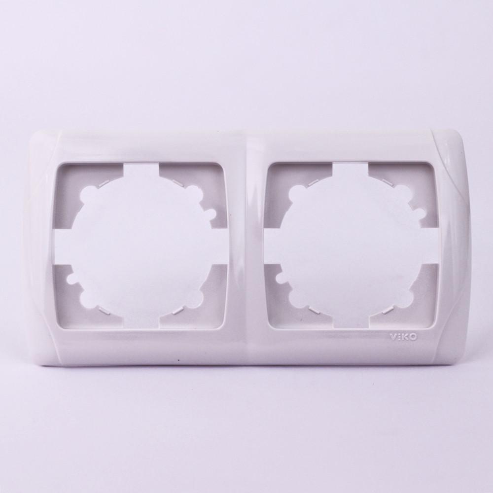 Двойная рамка VI-KO Carmen горизонтальная цвет белый, крем