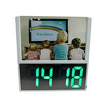 """Электронные настольные часы светящиеся DS 6606 с рамкой для фото """"дети"""", led часы с градусником"""