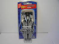 Станок мужской для бритиья Wilkinson Schick Quattro 2 + подставка+контейнер для запасных катриджей, фото 1