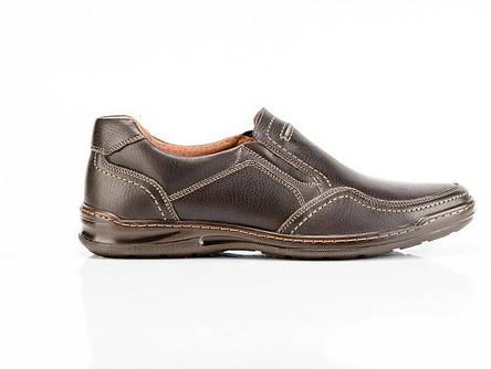 Мужские кожаные туфли Comfort Walk brown, фото 2