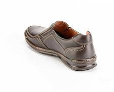 Мужские кожаные туфли Comfort Walk brown, фото 3