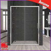Душевые двери раздвижные в нишу 120 см Aquanil Carmen стекло прозрачное. Душевая дверь в нишу 120 см