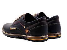 Мужские кожаные кроссовки flotar (реплика), фото 3