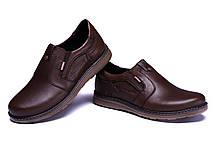 Мужские кожаные туфли Kristan brown old school, фото 2