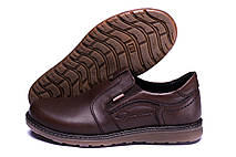 Мужские кожаные туфли Kristan brown old school, фото 3