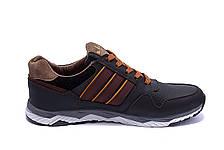Чоловічі шкіряні кросівки Adidas Tech Flex Brown (репліка), фото 2