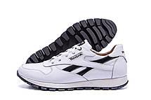 Мужские кожаные кроссовки Reebok Classic White  (реплика), фото 3