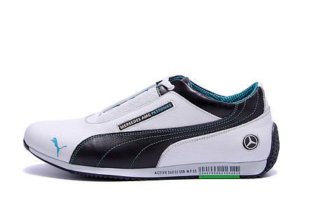 Мужские кожаные кроссовки Puma Mersedes Amg Petronas (реплика), фото 2