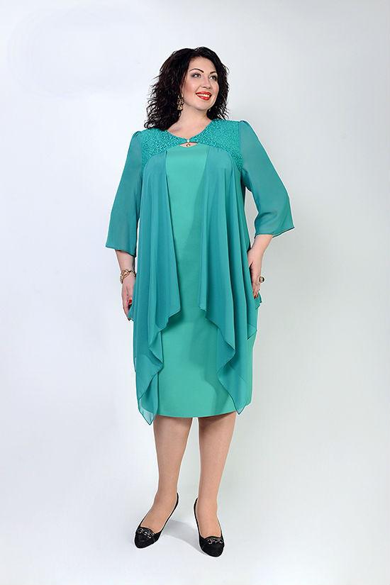 Очаровательное женское платье больших размеров  продажа, цена в ... 1b89e8b43b3