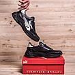 Чоловічі шкіряні кросівки Puma Anzarun Black (репліка), фото 4
