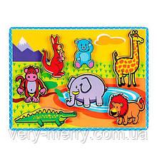 Дерев'яна рамка-вкладиш Viga Toys Звірятка (56435)
