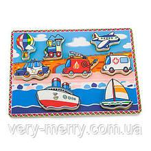 Деревянная рамка-вкладыш Viga Toys Транспорт (56436)