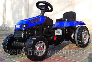 Дитячий трактор на педалях Pilsan (синій колір)