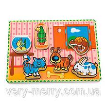 Деревянная рамка-вкладыш Viga Toys Домашние питомцы (56440)