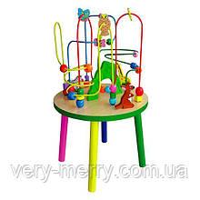 Дерев'яний ігровий центр Viga Toys Столик з лабіринтом (58971)